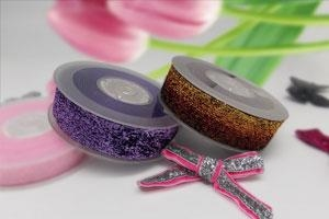 Rainbow Sparkle Velvet Ribbon