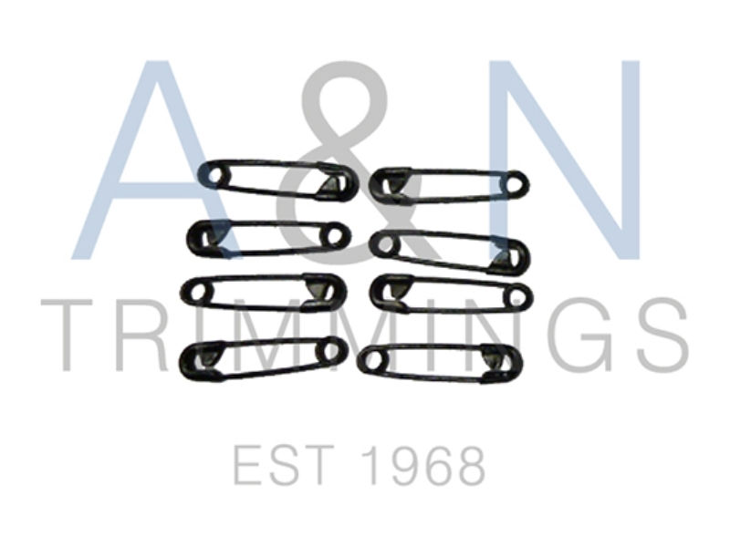 Safety Pins 19mm Black
